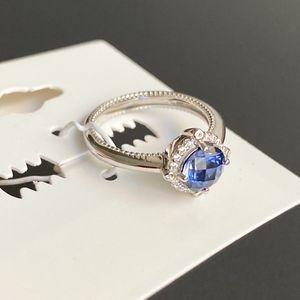 NEW LaFonn Diamond Sapphire Sterling Silver Ring